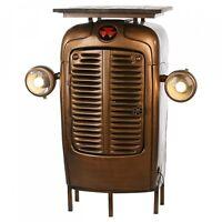 Schrank Traktor Casablanca Metall Braun Tisch Regal Kommode Trekker Barschrank