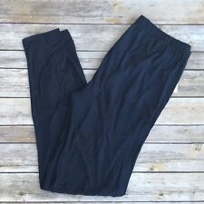 Navy Blue Solid Women's Leggings PS Plus Size TC 12-20 Super Soft