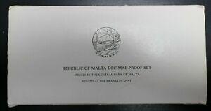 1977 Malta Decimal Coin 9 Piece Proof Set OGP