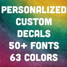 Personalized Name Vinyl Decal Sticker Custom Car Window Netbook Laptop Phrases
