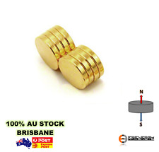 50x GOLD 6mm X 2mm N45 Strong DISC Magnets Neodymium Rare Earth Model Doll