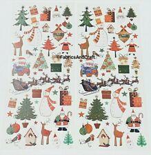 76 CHRISTMAS STICKERS-MODERN TRADITIONAL-XMAS TREE-REINDEER-SANTA-ROBIN-SNOWMEN