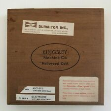 Kingsley Machine Type (10pt. News Gothic) for Hot Foil Stamping Machine