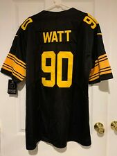 TJ Watt #90 Pittsburgh Steelers Nike Color Rush NFL Football Jersey Adult XL