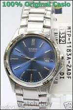 MTP-1183A-2A Blue Casio Watches Stainless Steel Band Date Display Analog Japan