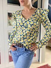 £259 Genuine DVF Blouse, Diane Von Furstenberg Silk Blouse, Long Sleeve Top, New