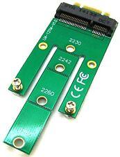 Asombrosamente M.2 B + M clave para mSATA Mini Pci-e Sata 3.0 SSD Macho Convertidor Adaptador de tarjeta