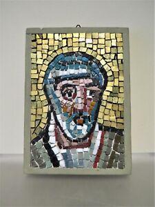 "Carlo Signorini Mosaic Art Studio Detail  Basilica Ravenna Italy 8 3/8"" x 5 7/8"""