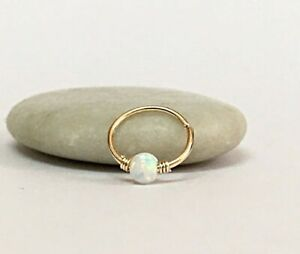 Nose Ring Opal Cartilage Earring Helix Tragus Cartilage Hoop Septum Piercing