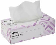 Solimo 2 Ply Facial Tissues Carton Box - 100 Pulls MXC