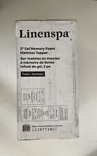 Linenspa 2 Inch Gel Infused Memory Foam Mattress Topper Twin