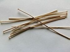 Headpins 50mm Gold plated thin soft  X 200 top quality. Ideal for tying.