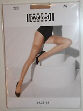 """Wolford """"Lace 15"""" halerlose Strümpfe, cosmetic, Gr. M, 15 DEN, sexy, OVP"""