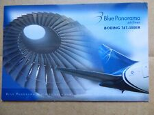 BLUE PANORAMA   B 767-300ER   / CARTE COMPAGNIE / AIRLINE ISSUE