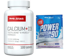 Body Attack Calcium + D3 - 100 Tabletten - Mineralstoffe Vitamine + Gratis Probe