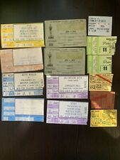 Lot Of 14 Ticket Stubs 70-80Th /O'Jays/Aerosmith/He art/Bette Midler/Black SabbaT