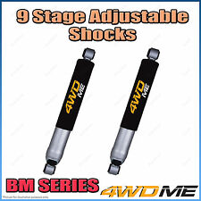 """Pair Nissan Patrol GQ Coil Cab Ute Front 9 Stage BM Shock Absorbers 2"""" 50mm Lift"""