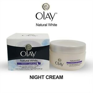 50g Olay Natural White Glowing Fairness Night Cream All In One SPF 24 Free Ship