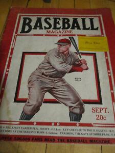 Vtg Sept  1929 Baseball Magazine Jimmy Foxx /Ty Cobb /Tris Speaker /Babe Ruth
