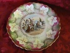 Three Crown China cabinet plate Retour du Pelerinage signed numbered Germany