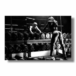 Bodybuilding Motivational Art Silk Poster Fitness Exercise Wall Pictures For Gym