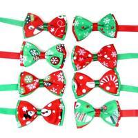 1pc Cute Christmas Pet Dog Cat Bow Ties Adjustable Bowties Dog Collar Pet Supply