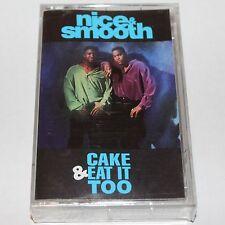 Nice & Smooth Cake & Eat It Too SEALED Cassette Tape Hip Hop Guru Bas Blasta