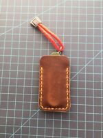"CUSTOM Brown Leather Folding Knife Sheath EDC Pouch Slip Joint Knives 2"" X 4"""