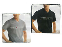 Tommy Hilfiger Men's Two Classic Fit Short Sleeve V-Neck Plain Tees-$0 Free Ship