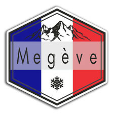 2 x 10cm Megeve France Vinyl Stickers - Travel Fun Sticker Laptop Luggage #23017