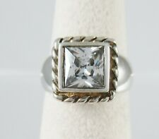 Silpada Sterling Silver R0836 Elizabeth Princess Cut Cz Ring Size 6.25