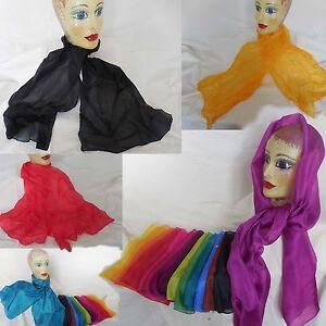 Halstücher - Schals  reine Seide handcoloriert  mit umweltfreundlichen Farben