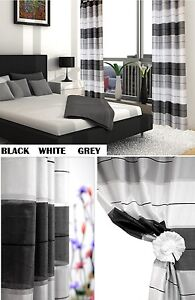 Eyelet Ring Top Voile Curtain Panel Set Voile Curtains  WINDOW PANELS Curtain