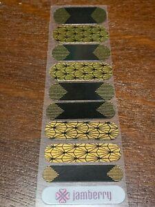 Jamberry, Half Sheet, Metallic Finish, Golden Twenties