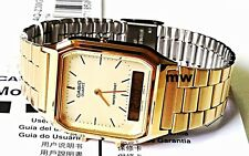 Original Casio Watch Dual Time Gold Men's Quartz  Watch AQ-230GA-9 9D AQ230 NEW