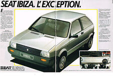 PUBLICITE ADVERTISING  1985   SEAT IBIZA system posrche (2 pages)