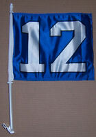 Seattle Seahawks Flag New # 12 NFL car window