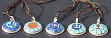 FIVE ELEMENT GODDESS TIBETAN SEED SYLLABLES FIVE PENDANT SET