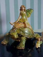 Turtle Fairy Enamel Trinket Box & Necklace #62471