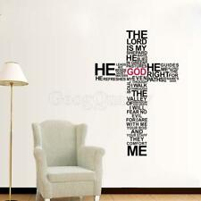 New Jesus Cross Art Mural Words Decal  PVC Wall Stickers Home Decor Paper Mural
