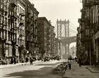 Pike & Henry, Manhattan Bridge NYC Lower East Side 1936 Vintage Photo Reprint