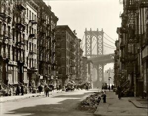 Blossom Restaurant Vintage Photo Reprint Barber Shop 103 Bowery NYC 1935