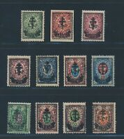 "RUSSIA 1919 - west army, ex Mi. 23-35 **/MNH, ""third issue"", eleven stamps!! Vf/"
