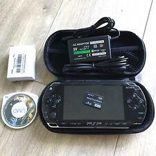 Sony Psp 1001 Black PlayStation Portable System Bundle Lot with Games Working