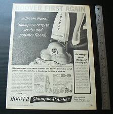 1962 vintage ad HOOVER Shampoo Polisher sales advertisement advertising retro