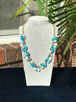 NWT J.Crew Mixed Stone Aqua Queen Necklace