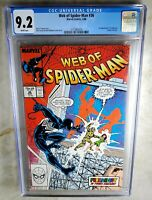 Web of Spider-Man #36 1st Tombstone - Marvel 1988 CGC 9.2 NM- WP - Comic I0142
