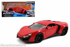 Jada 2015 Fast And Furious 7 Lykan Hypersport Supercar 1/24 Pressofuso Rosso