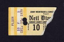 Original 1979 Neil Diamond concert ticket stub Fort Worth Texas September Morn