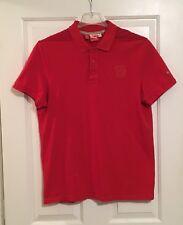 Puma Scuderia Ferrari Mens Red S/S Polo Shirt Sz L